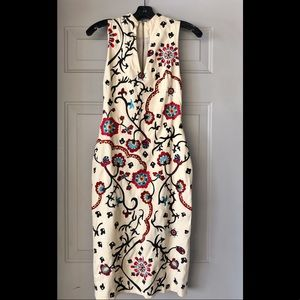 Alice and Olivia embroidered dress